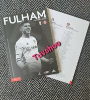 Fulham v Brentford BEHIND CLOSED DOORS Programme 20/6/2020! COMPLETE SOLD OUT!!!