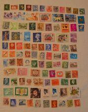 Lot 100 foreign stamps~used~1930-1990 vintage~Europe~Asia~Australia~UK~Japan ++