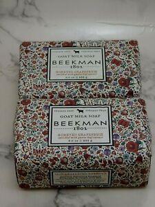 2x New Beekman 1802 Honeyed Grapefruit Goat Milk Soap 9 oz Each PLEASE READ!!