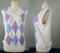 Vintage DEANS OF SCOTLAND Argyle Sweater Vest Size 40 SMALL? Ladies Womens