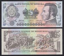 Honduras  5 Lempiras  6-5-2010  Pick 91c   SC = UNC