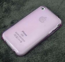New Light Purple Puding TPU Matte Gel skin case cover for Iphone 3g 3gs