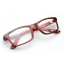 Retro Style Reading Glasses +2.00 Lens Unisex Red Freams Lightweight
