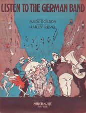 HARRY REVEL sheet music LISTEN TO THE GERMAN BAND piano, ukulele ART DECO 1932
