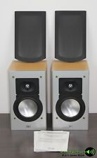 1 Paar Elac BS 103.2 Stereo Lautsprecher Regallautsprecher in Silber/Buche Dekor