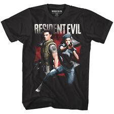 Resident Evil Chris & Jill Valentine Men's T Shirt Zombie Attack Gamer Capcom