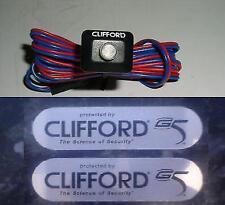 Clifford G5 Alarma de automóvil Led Azul 12v + Gratis G5 pegatinas