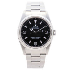 ROLEX EXPLORER 114270 MENS AUTOMATIC WATCH BLACK DIAL DOMED BEZEL SS 36MM