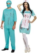 Couples Men AND Ladies Zombie Doctor Nurse Halloween Fancy Dress Costumes Outfit