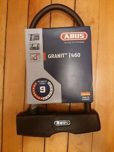 Brand New Black ABUS Granit 460 U-lock Security Level 9 Perfect Condition