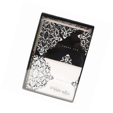 Hallmark Thank You Notes (Black and Ivory Scroll, 50 Cards and Envelopes)