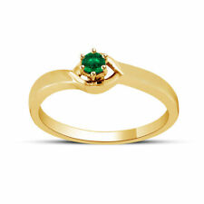 Emerald Solitaire Wedding Fine Rings