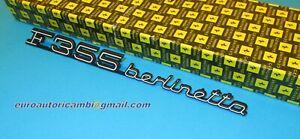 ORIGINAL FERRARI F355 BERLINETTA 2.7 & 5.2 REAR SCRIPT BADGE EMBLEM GENUINE
