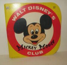 Vintage Walt Disney Mickey Mouse Club Golden Shape Book Western Publishing 1980