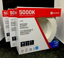 Utilitech 5000K Daylight LED RECESSED RETROFIT DOWN LIGHT DIMMABLE-LOT OF 3!