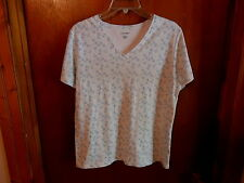 """Womens CC Hughes Size L Short Sleeve Floral Top """" BEAUTIFUL TOP """""""