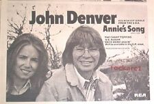 JOHN DENVER Annie's Song 1974 UK Press ADVERT 12x8 inches