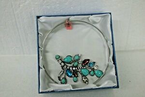 JTV 2127018 CHOKER NECKLACE TURQUOISE & FACET GEMSTONES WITH GIFT BOX BEAUTIFUL
