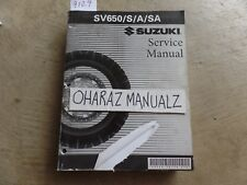 2003 2004 2005 2006 2007 SUZUKI SV650/S/A/SA Service Manual OEM