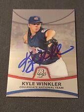 Kyle Winkler Signed 2010 Bowman Platinum Card Auto USA Autograph Baseball COA