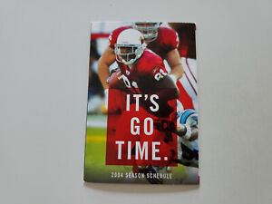 RS20 Arizona Cardinals 2004 NFL Football Pocket Schedule - Alltel