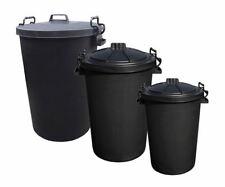 More details for plastic garden bin waste can rubbish black heavy duty storage 50 80 85 90 110l