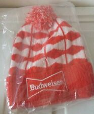 NEW Budweiser bud beer promo winter hat toque beanie SEALED red white