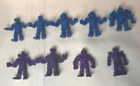 1980's Vintage Lot of 9 BLUE Purple Color M.U.S.C.L.E. Men Figures Mattel