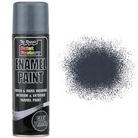 9 x Enamel Grey Primer Paint Spray Aerosol 400ml Radiator Metal Wood Etc. Tough