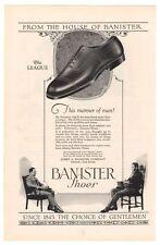 Banister Mens Shoes '20s League Chairs Advertisement Original Ad Vintage 1925