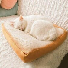Creative Toast bread Cat Lounger Bed Kennel Mat Soft Fiber Pet Small Dog Puppies