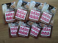 5 Bustine Stencil, adesivi, sticker,ricostruzione,unghie,gel,nail art, + omaggio