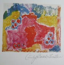 """CECILY BARTH FIRESTEIN """"FLOWERS"""" HAND SIGNED  ORIGINAL 1985 LITHOGRAPH US ARTIST"""