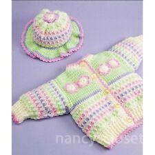 Crochet Pattern Baby Childs Cardigan, Hat & Blanket Petals Set