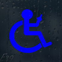 Funny Wheelchair Finger Up Car Decal Vinyl Sticker For Window Bumper Panel