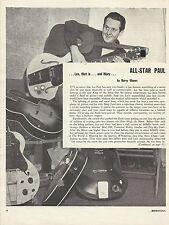 """LES PAUL Original Vintage Magazine PAGE """"Down Beat"""" 1952"""