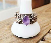 Carolyn Pollack Carlisle Sterling Silver Blossom Amethyst Gemstone Size 8 Ring