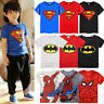 Kinder Jungen Batman Superman Spider-man T-Shirt Tops Kurzarm Tshirt Sommer Tees