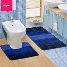 Home Door Way Bathroom Thick Rugs U Shape Toilet Floor Mat Kitchen Set 2Pcs Set