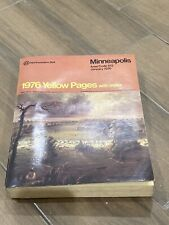 1976 Minneapolis Yellow Pages Telephone Directory/book