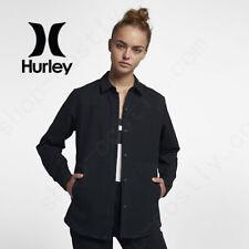 Hurley Women's Black Wilson Shacket Heavy Cotton Jacket Coats sz XS Small Large
