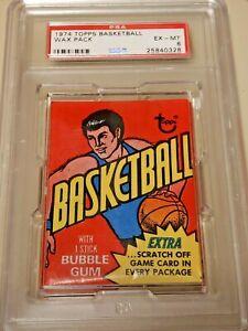 1974-75 Topps Basketball Wax Pack PSA 6 Bill Walton gem rc? $$