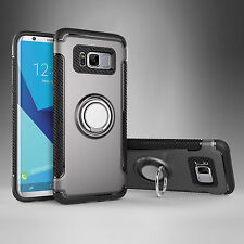 For Samsung Galaxy S9 Plus S8 Note8 Shockproof Hybrid Ring Hard Armor Case Cover