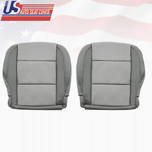 FOR DRIVER PASSENGER Bottom LEATHER 2-Tone Gray Cover Nissan Armada 2005 to 2015