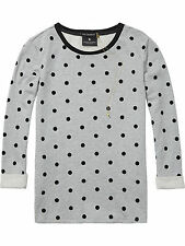 Maison Scotch Sweatshirt + Kette grey melange grau dots 127489  3 / L  NEU Shirt