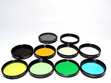 9x nine 52mm  Russian  colour  filters.