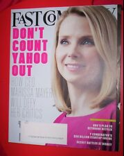 FAST COMPANY MAGAZINE May 2015 HOW YAHOO CEO MARISSA MAYER WILL DEFY HER CRITICS