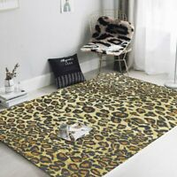 Leopard Print Carpets Bedroom Bedside Area Rugs Living Room Sofa Table Non-Slip