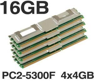 4x 4GB 16GB Apple Mac Pro DDR2 667 Mhz FB DIMM PC2-5300F 1,1 2,1