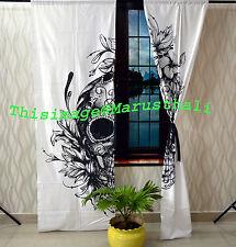Human Skull Curtains Valances Room Divider Window Treatment Cotton Drapes Throw